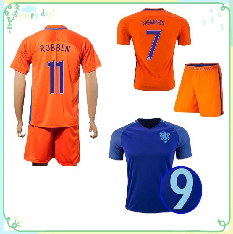 low priced c2acc dca19 holland 10 wijnaldum away mens adults short sleeves 2016 ...