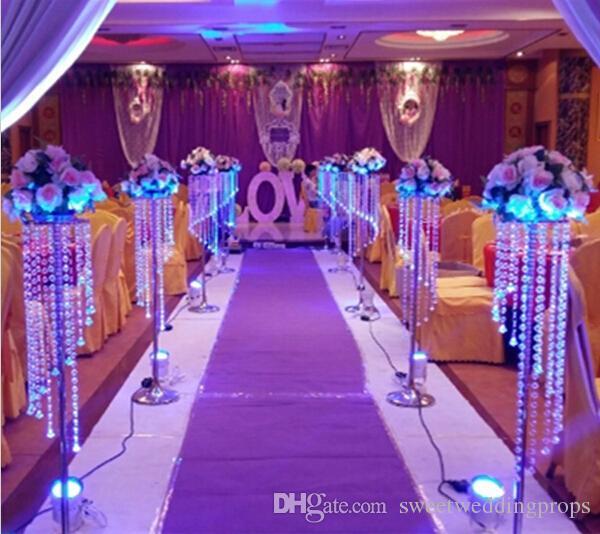 الدعائم الزفاف الزفاف الكريستال الطريق الرصاص أعمدة كريستال حيرة محور الكريستال لتزيين حفل زفاف