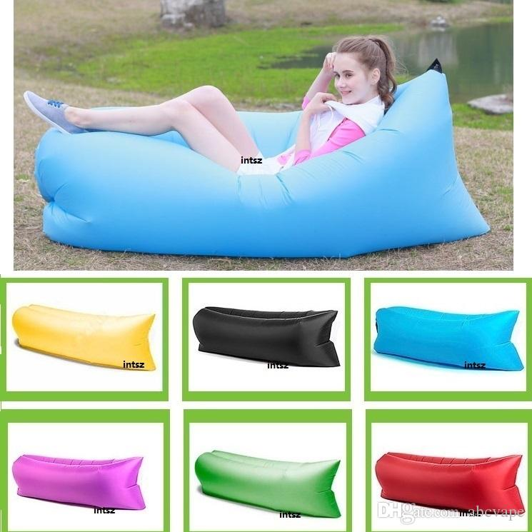 Fast Inflatable Sleeping Bag Sofa Air Bag Outdoor Camping Fatboy Lazy  Hangout 2016 China Factory Dhl Outdoor Foam Padding Rocking Chair Cushions  From ...