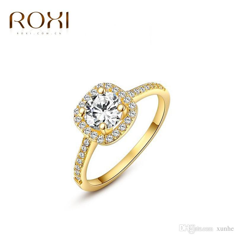 Diamond ring alloy hand decorated with eight heart eight arrow zircon ring different colors 2016 cheap wholesale