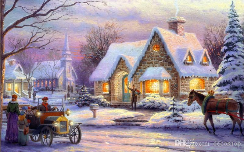 Thomas Kinkade Lyric Landscape Oil Painting Reproduction High Quality Giclee Print on Canvas Modern Home Art Decor TK106