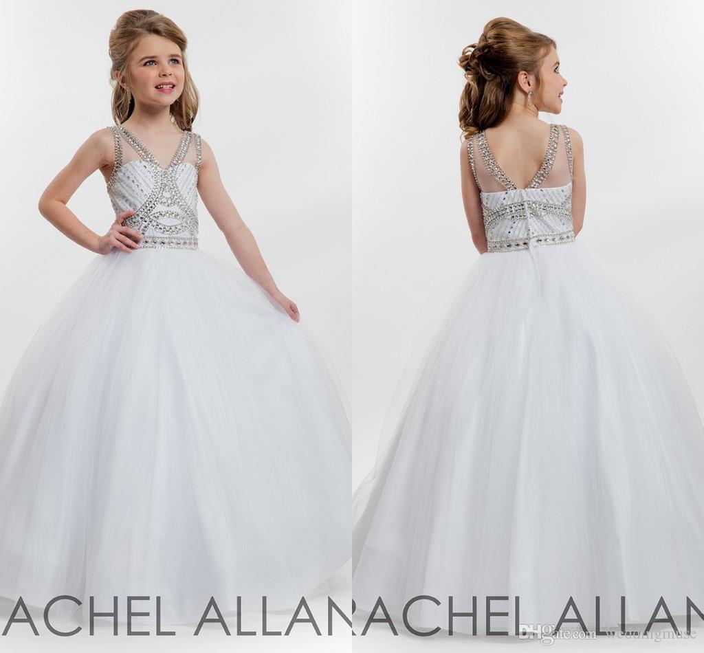 Cheap Rachel Allan 2017 Pageant Dresses Kids Princess V Neck ...