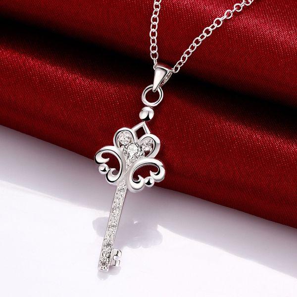 Brand new Art und Weise Blumenform 925 Silber Anhänger Ketten STPN082B, bestes Geschenk lila Edelstein Sterling Silber Schmuck Halskette