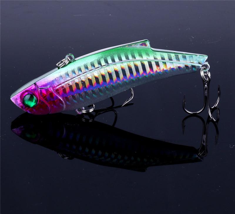 3D Eyes Likelife FISH VIB señuelo de la pesca 28 g 9 cm bajo Wobble Laser manivela cebo aparejos de pesca con agudos ganchos