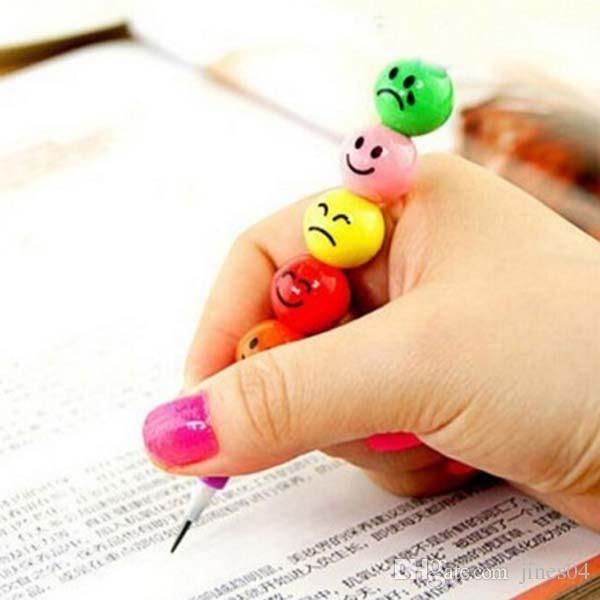 /Smiley Pencils Sugar-Coated Haws Pencil Can Splice Pencil Kid Children Prize Gift Stationery Material Escolar