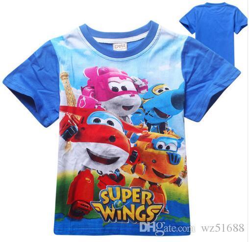 Kinderkleding Kids.2019 Kids T Shirt Super Wings Boys Clothes Cartoon Girls Tops Boys