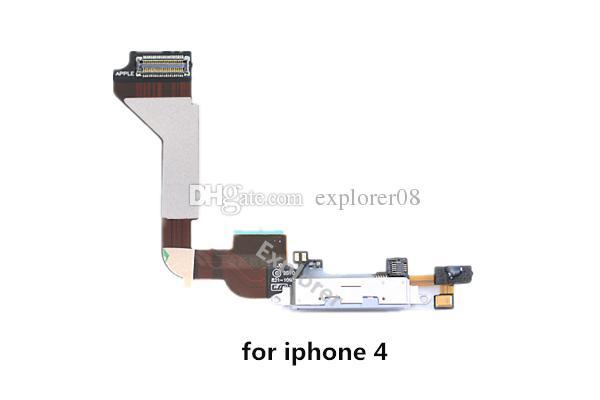 für iPhone 4 4 s 5 5G 5 s 5c 6 Plus USB Dock Connector Ladegerät Ladeanschluss Flex Kabel Kopfhörer Audio Jack mic Ribbon