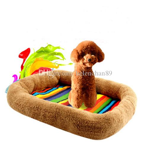 Wholesale Soft Plush +Cloth Pet Dog Cat Mat Foldable Square Colorful Mats  For Small Medium Dogs Dog Cat House Pets Beds Pet Dog Cat Beds Dog Round  Basket ...