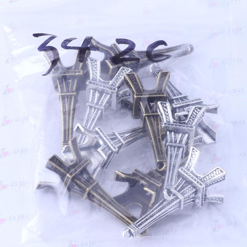 Tour Eiffel Argent Antique / Bronze Charm Pendentif En Alliage de Zinc Fit Bracelets ou Collier / 3426
