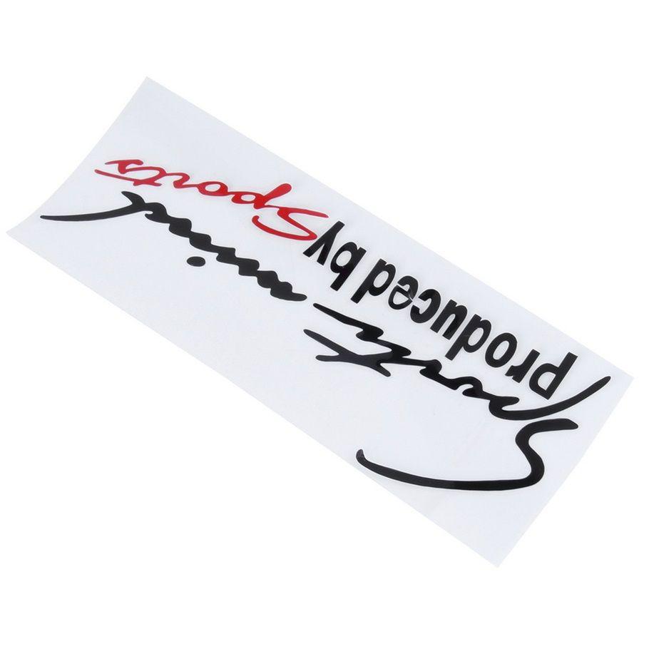 Mente de esportes Produzido por Carro Esportivo Adesivos Lâmpada Reflexiva portas de Sobrancelha Mente Styling Auto Racing Decor Vinyl Decoração Gráfica