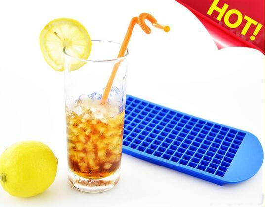 Art- und Weiseheißer umweltfreundlicher Nahrungsmittelgrad 160 Hohlraum-Silikon-Eiswürfel-Behälter Minieis-Würfel Kleine quadratische Form-Eismaschine