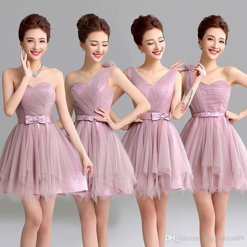 Compre Color Rosa Talla Us2 Us8 Vestido De Mujer Sexy Fuera Del ...