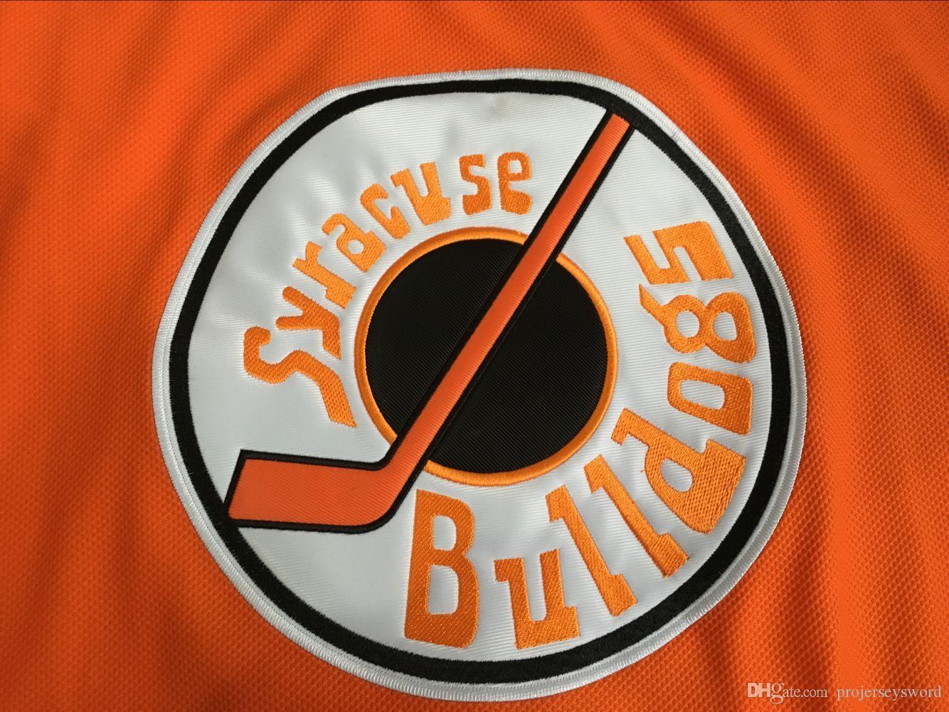 Slap Shot Movie Jerseys Ogie Ogilthorpe Mens 100% Stitched Ice Hockey Jerseys #2 Ogie Ogilthorpe Syracuse Bulldoges Jersey