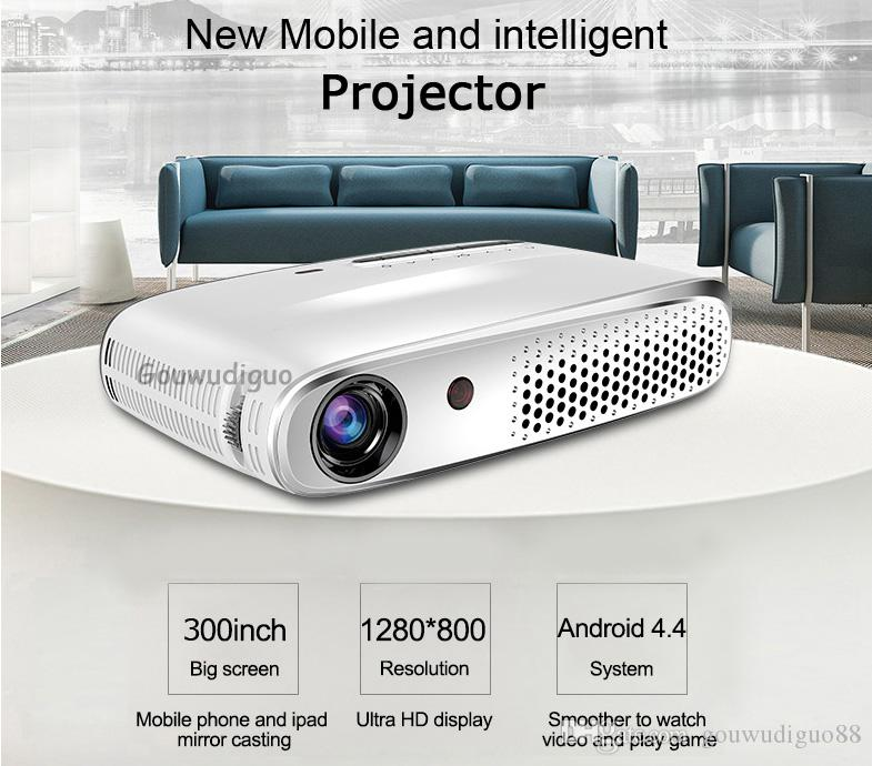 2018 New DLP 8500 Lumens LAN WiFi LED Projector Full HD 1080P Multimedia Smart Android OS Projector 3D Smart Projector