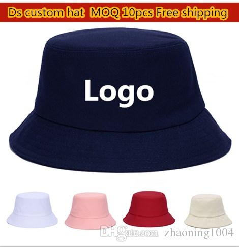 621c3716986 Plain Cotton Bucket Hats For Adults Mens Womens Fishing Caps Blank ...