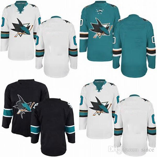 info for a5255 ed9b0 Factory Outlet Mens Cheap Best San Jose Sharks BLANK Hockey Jersey  GREEN/BLACK,Authentic BLANK San Jose Sharks Sport Jersey,Size 46-56