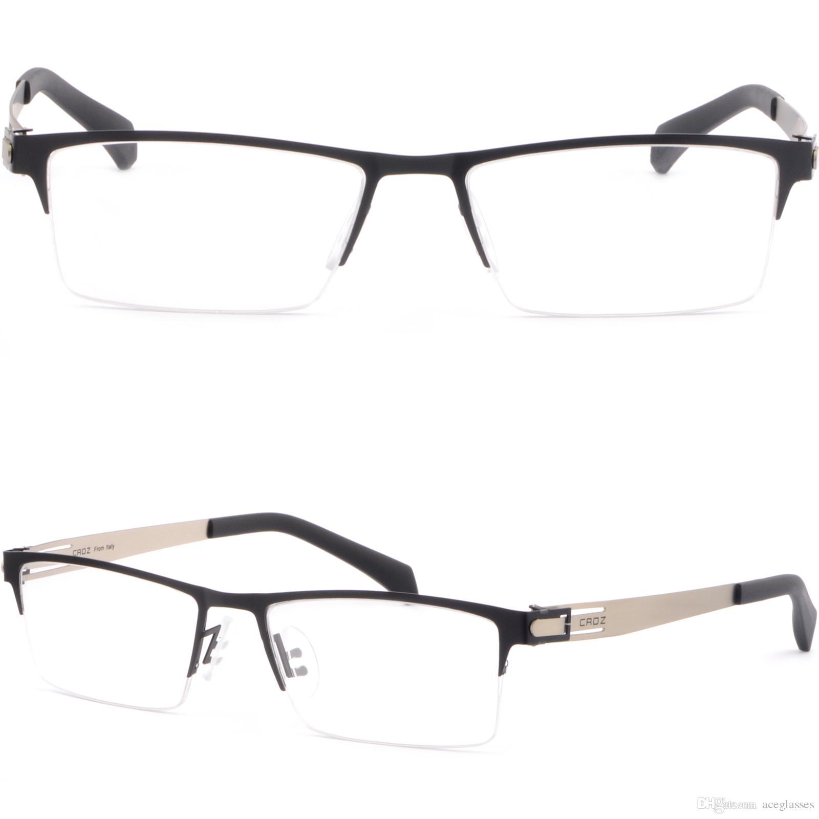 Compre Gafas Graduadas Negras Del Marco Titanium De Los Hombres De ...