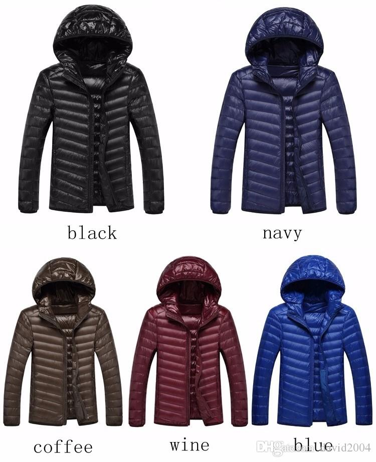 a1e596dc107 2019 Men Ultralight Duck Down Jacket Lightweight Feather Hoodies Coat  Outwear Plus With Carry Bag Large Size From David2004, $25.39 | DHgate.Com