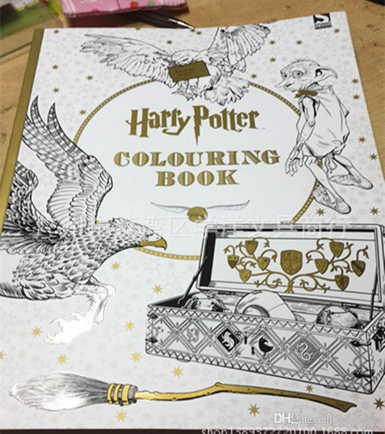 harry potter colouring books for adult kid relieve stress kill time coloring books secret garden series childrens colouring books coloringbooks from edgepan - Harry Potter Coloring Books