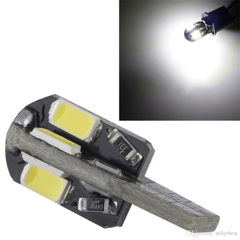 CAN BUS T10 2W 8 SMD 8SMD LED 5730 5630 Cool White/Warm white Light Wedge Base w5w 168 Dome 12V bulb