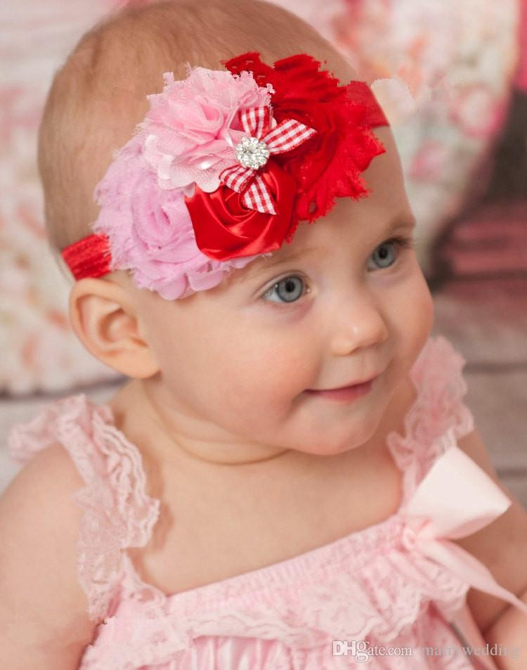 cute bady girls head pieces with sequins hand made flower 5 style