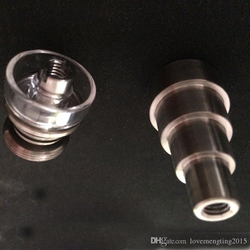 Freies verschiffen 6 in 1 Domeless Titanium Nagel Mit Quarz Schüssel quarz gericht Titanium Nägel 14mm 19mm Joint Quarz Banger Nagel für glas bongs