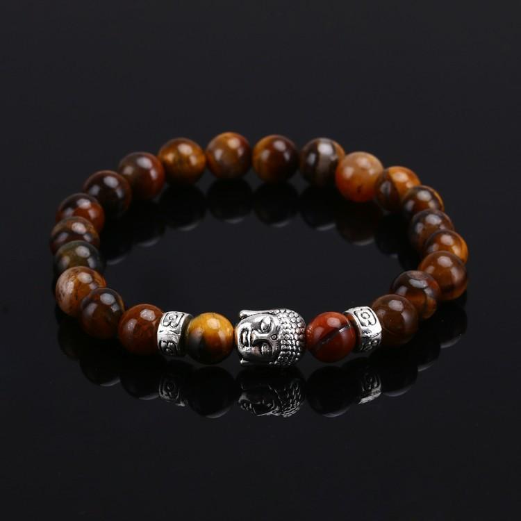Mens Bracelets Luxury Jewelry Bead Natural Stone Jewelry Cheap Anchor Beaded Buddha Bracelets For Men Women Buddha Lava Chakra Bracelet