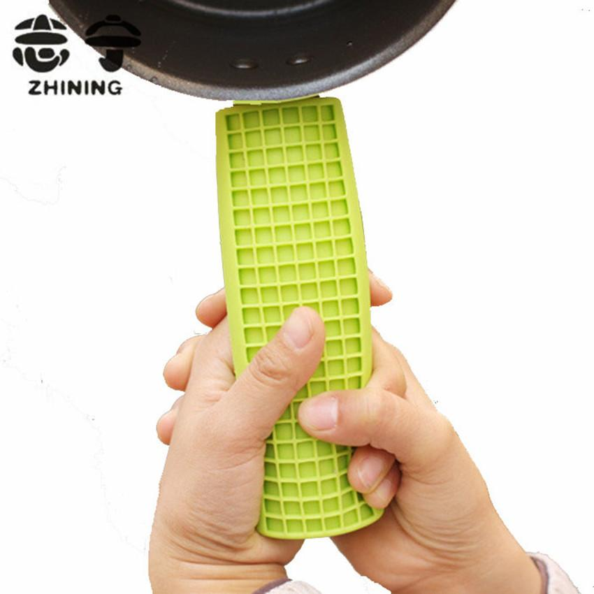 Silicone Pot Handle Cover Heat Resistant Eco Friendly Kitchen Convenient  Supplies 15.2*5cm Green Cooking Tools Free Shipping Y 2