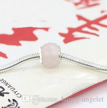 DIY Boutique Silber platedclassic 925 Ale-Logo gestempelt Kristallperlen Schmuck Accessoires großes Loch-Glas-Charme Passt Armbänder ZHP003