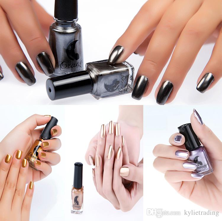 Metallic Nail Polish 6ml Mirror Effect Stainless Colors Varnish Nail ...