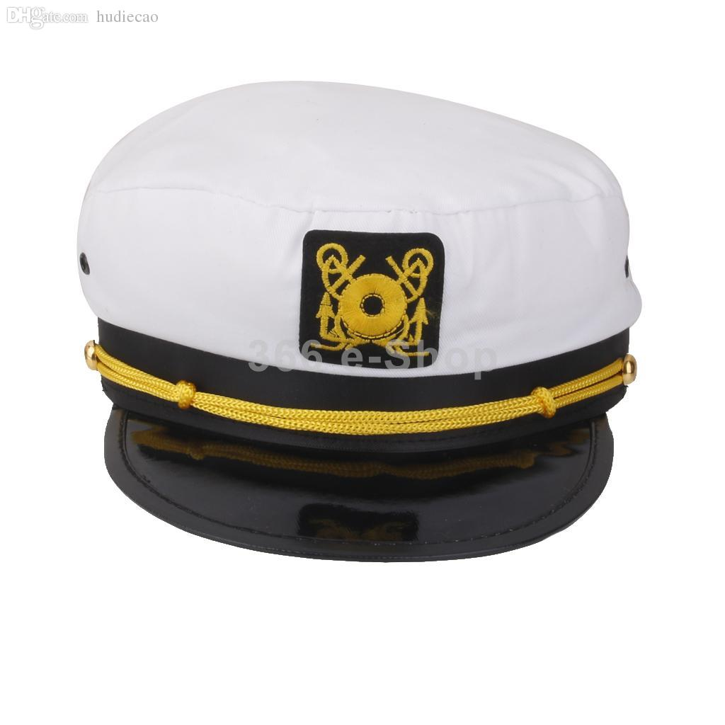 09830265f3e5e Wholesale-Fashion Yacht Captain Skipper Sailor Boat Ship Hat Cap Costume  Party WHITE Party Cap Party Earings Party Squirrel Online with  23.48 Piece  on ...