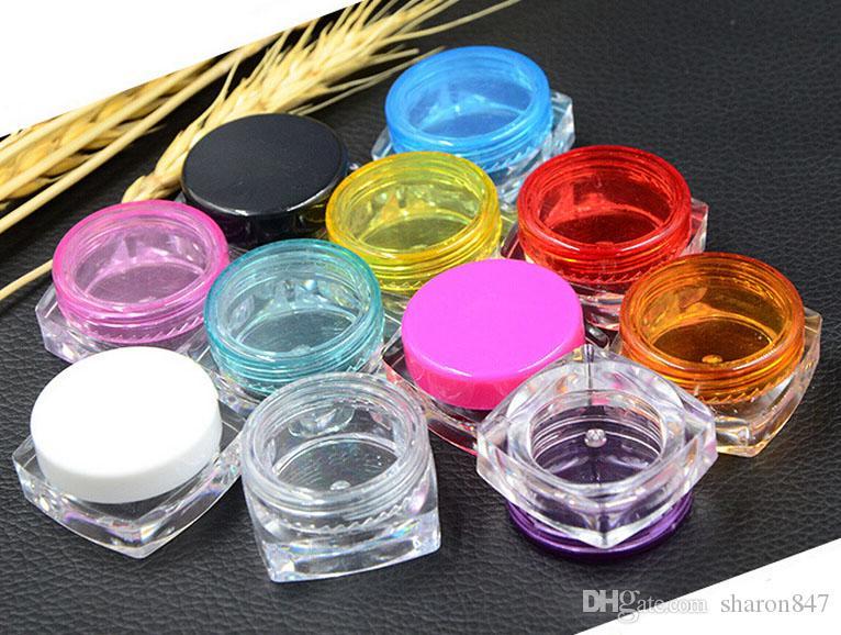 Precio al por mayor Mini recargable Mini 5G Cosmético Tarro vacío Pot Sombra de ojos Maquillaje Crema Crema Labio Balm Balm Botella de contenedor