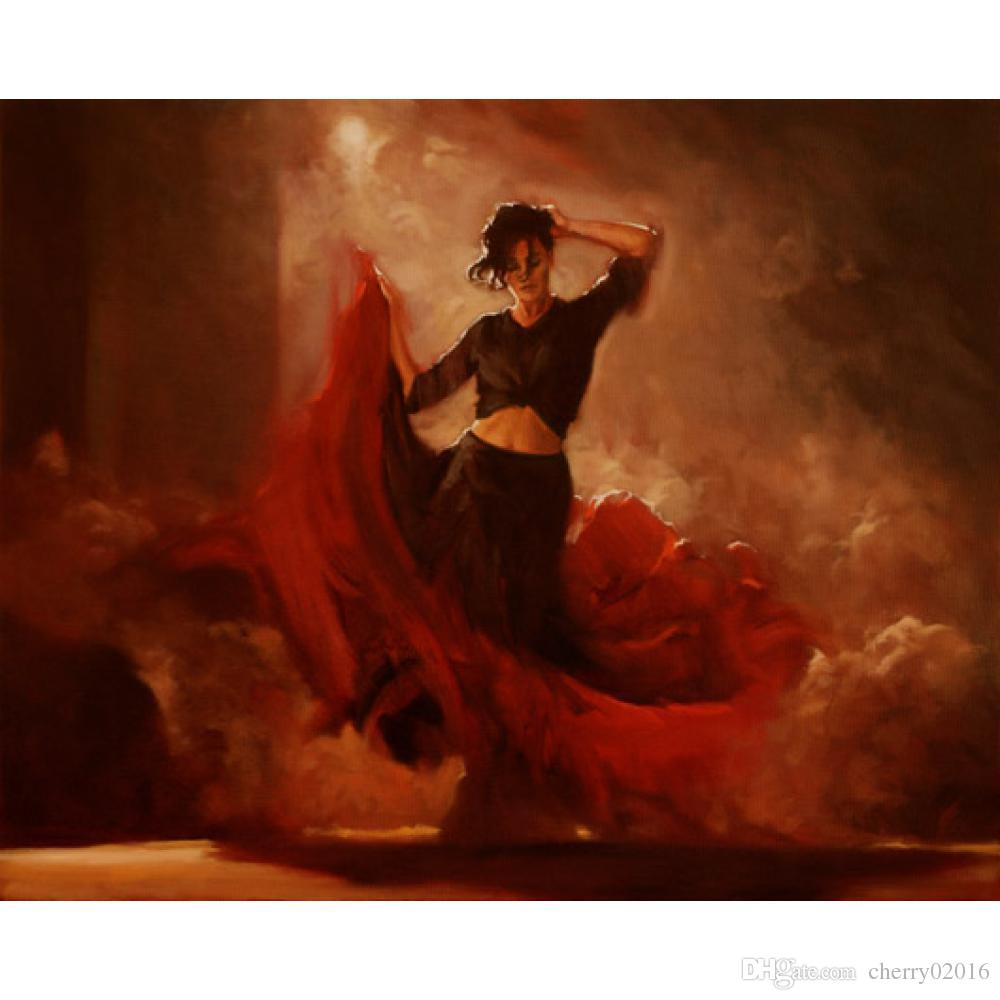 Flamenco Dancer Paintings For Living Room Wall Mark Spain