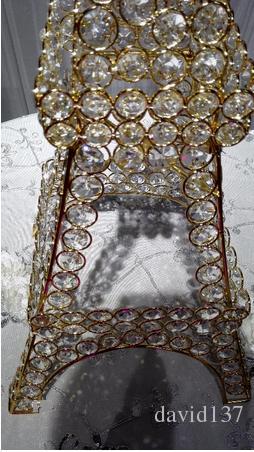 Эйфелева башня серебристая / золотая свадьба подсвечник центральные для свадебного украшения