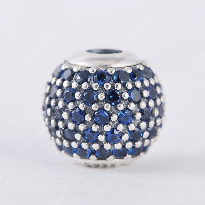 Yeni Otantik 925 Gümüş Mavi Kristal Açacağı İnanç Özü Charm Boncuk Sadece Fit Kadınlar Özü Charm Bilezikler DIY Takı Yapımı HE5