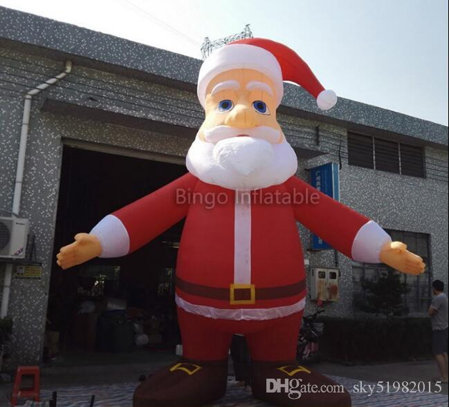 16ft inflatable Santa Claus Christmas santa cartoon figure with Open hands