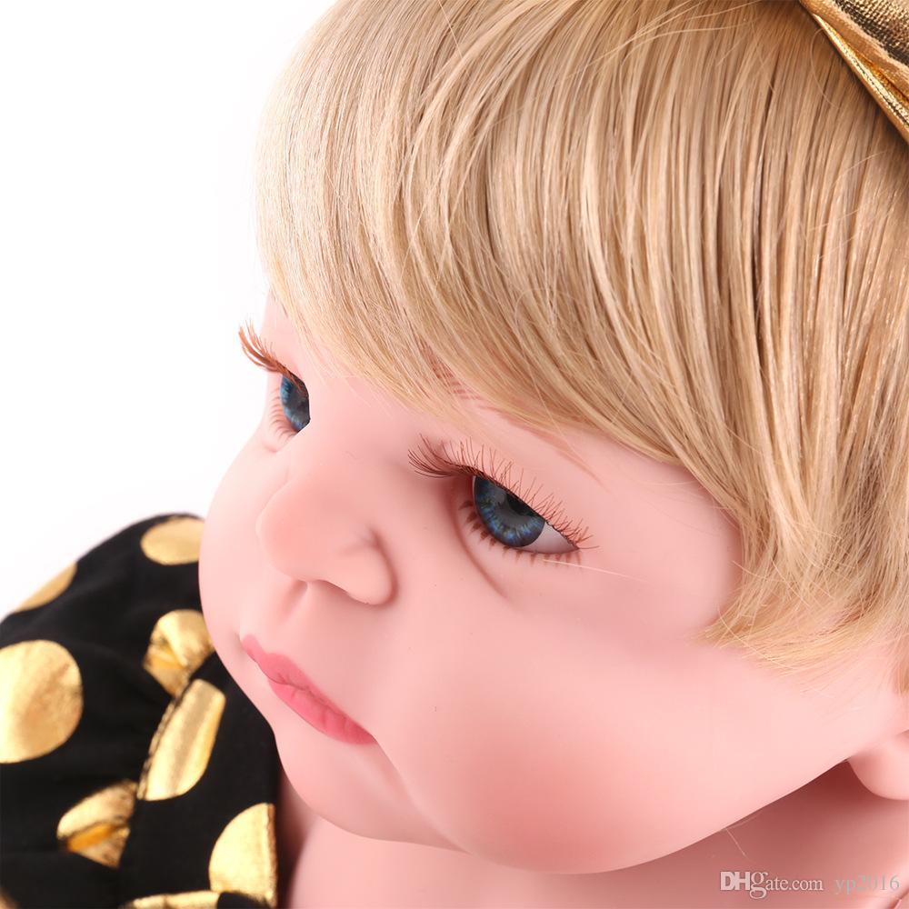 Conejito de 55 cm Cuerpo de silicona completo Bebé muñecas Muñecas Alive Muñecas realistas Juguete de la muchacha Realista Boneca BeBe Muñecas de baño de regalo