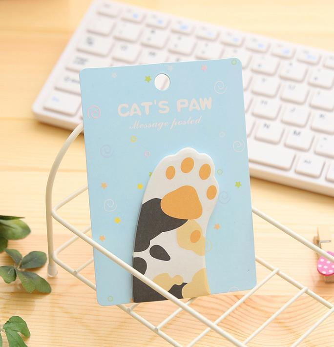 Cute Meow Cat Paw Memo Notepad Notebook Memo Pad Self-Adhesive Sticky Notes Bookmark Promotional Gift Stationery