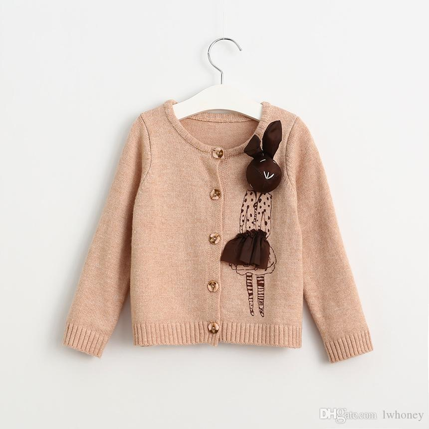 Baby Girls Sweaters 2016 New Autumn Winter Fashion Cartoon Rabbit ...