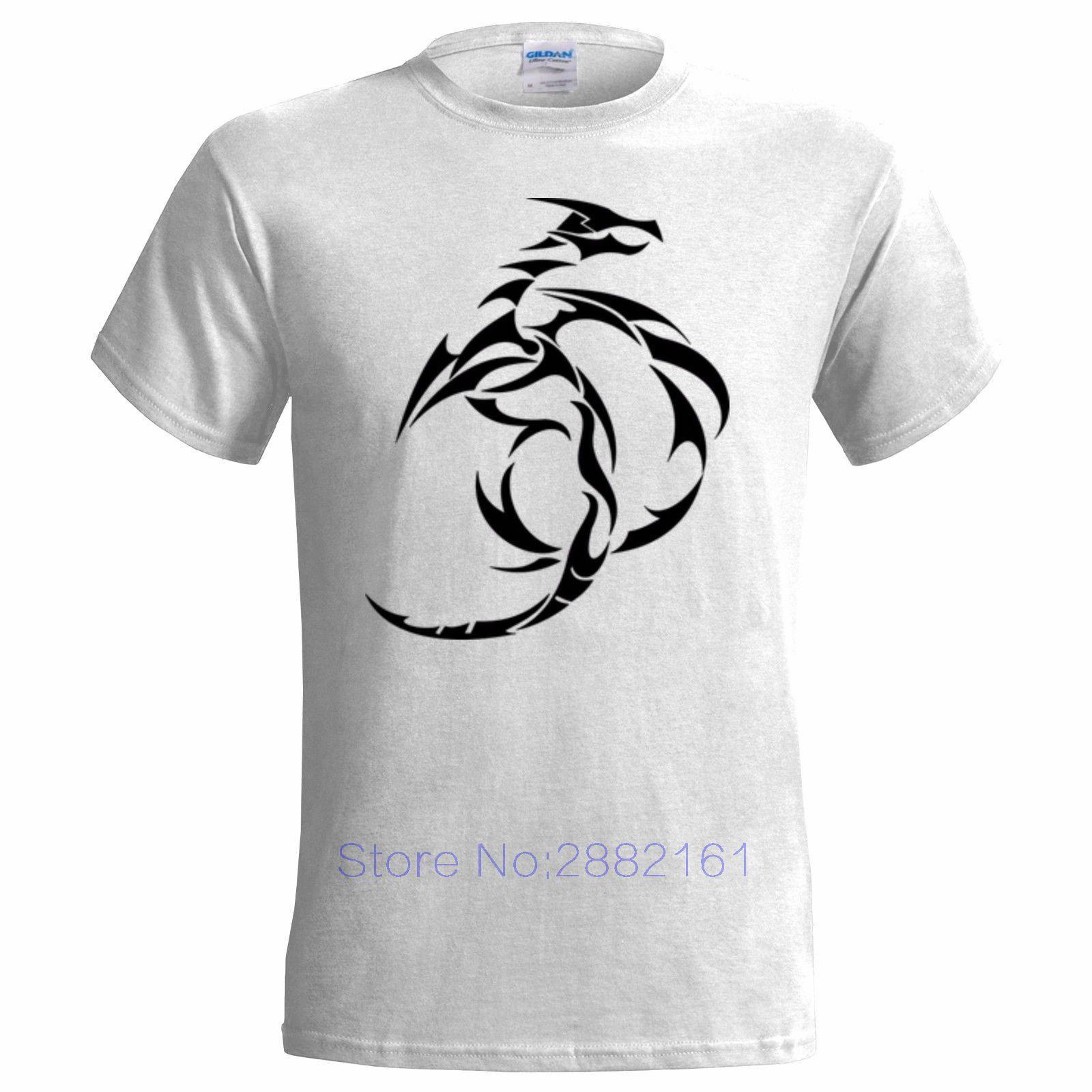 c51bfedfb TRIBAL DRAGON 2 ART DESIGN MENS T SHIRT MAORI TATTOO STYLE CHINESE STRENGTH  Men O Neck Tee Shirt And T Shirt T Shirt Makes From Beidhgate03, $11.01|  DHgate.