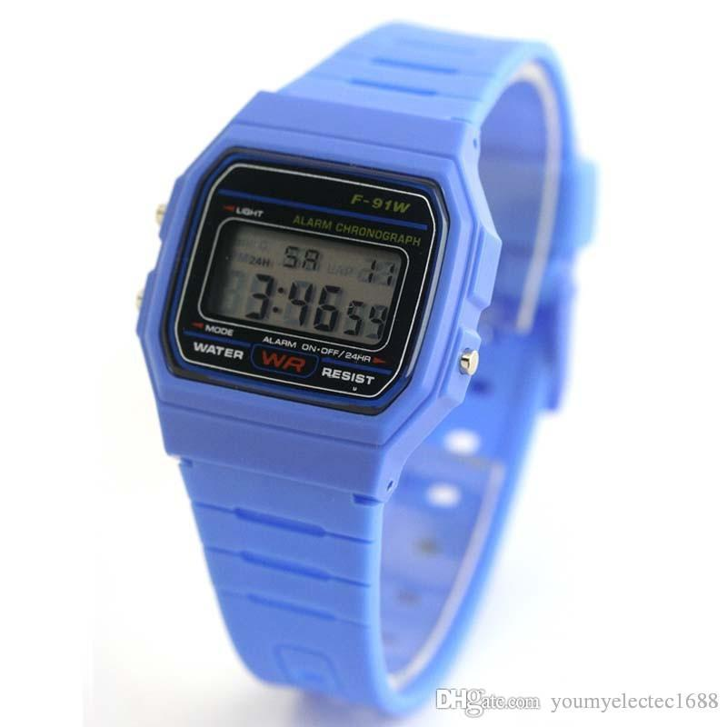 Luxury watches Men women F-91W watches F91W Silicone Led Watch Ultra-thin LED watches alarm clocks
