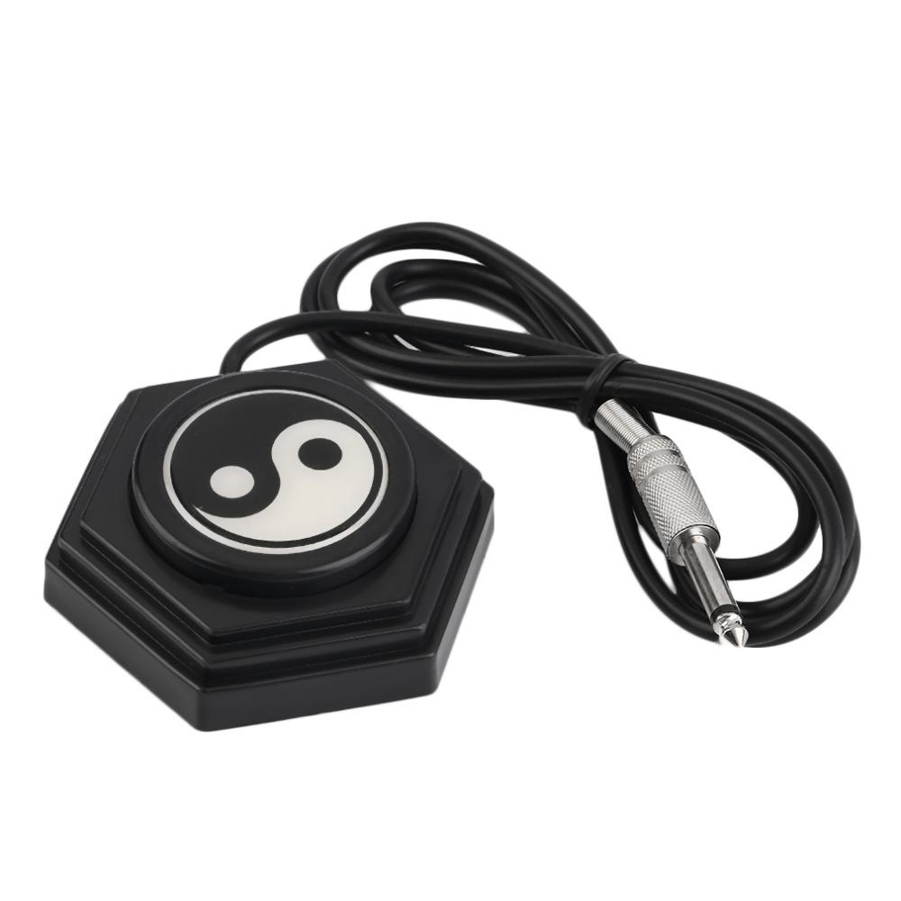 360 Tai Chi Tattoo Machine Power Supply Foot Pedal Switch Control Chrome