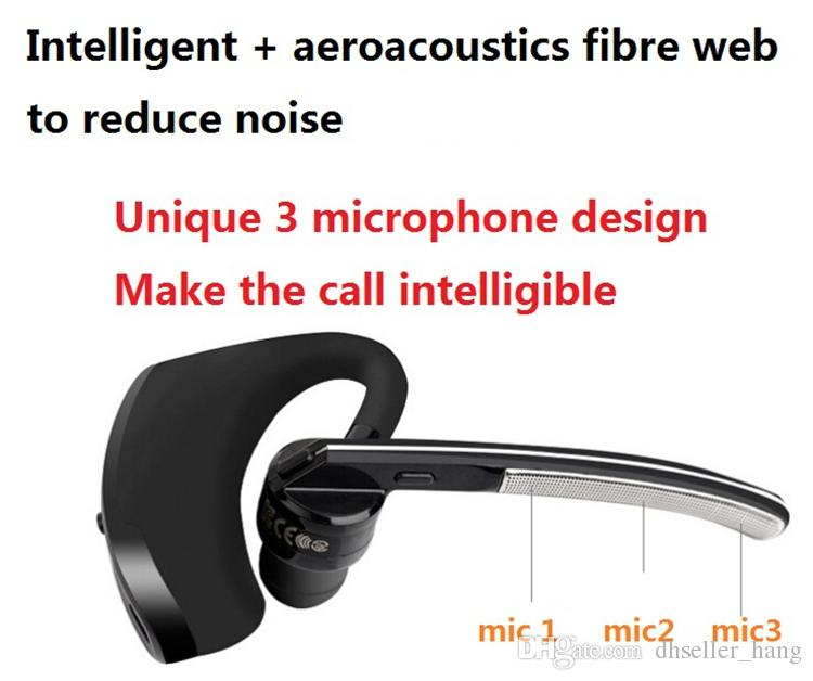 Fone de Ouvido Bluetooth Fones De Ouvido Fones De Ouvido Sem Fio Bluetooth 4.0 Negócios Fone De Ouvido Estéreo Fones De Ouvido Com Microfone de Ouvido-gancho Handfree Para Iphone 7