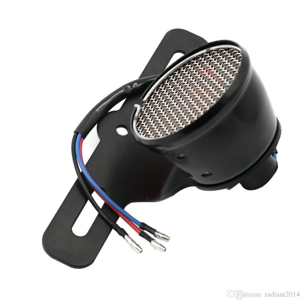 جديد للدراجات النارية الخلفية الذيل الفرامل إيقاف ضوء مصباح حامل لوحة ترخيص ل هارلي ياماها مخصص بوبر المروحية كروزر مقهى المتسابق