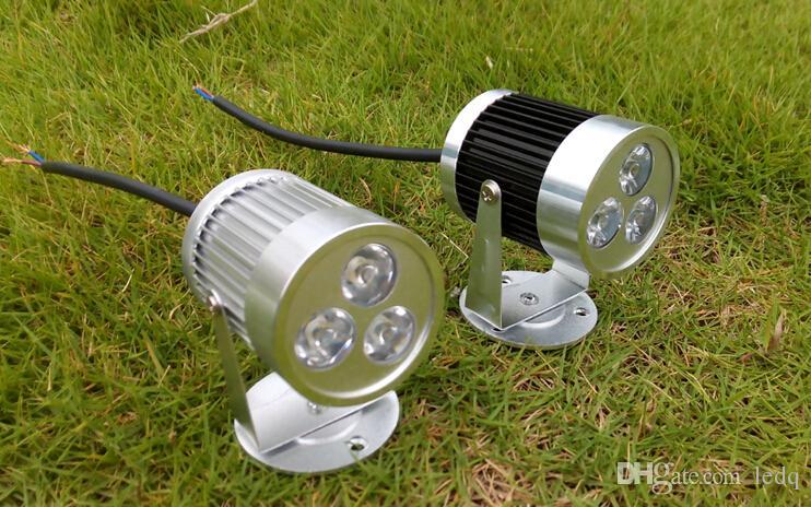 Prata Preto LEVOU Holofotes de Parede 3 W 110 V 220 V 12 V Luzes de Teto Spot Lâmpadas Branco quente Frio branco Vermelho Azul Verde Amarelo para Decoração Interior