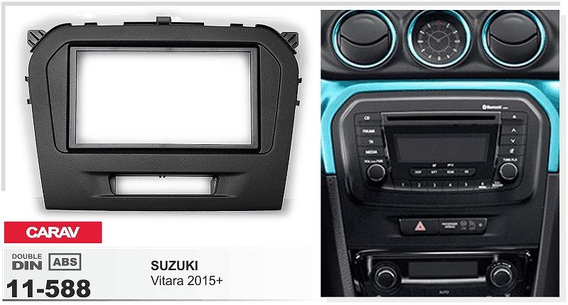 Carav 11 588 Car Radio Fascia Panel For Suzuki Vitara 2015 Stereo Rhdhgate: Car Radio Stereo Dash Kit At Gmaili.net