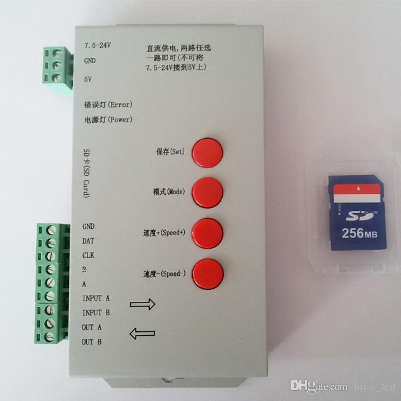 led controller Led Edit Software 2048 Pixel SD Card T1000s Controller for  Led Digital Strip pixel light module