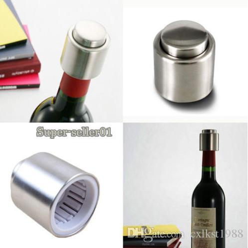 Stainless Steel Reusable Vacuum Sealed Red Wine Bottle Stopper Cap Plug UK