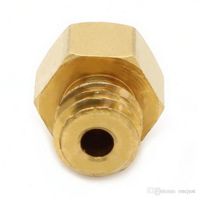 1 stück 0,2mm 0,3 mm 0,4 mm 0,5 mm Kupfer-Extruder-Düsen-Druckkopf für Makerbot Mk8 3D-Drucker B00044