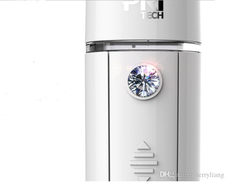 Pritech portable nano facail mist sprayer face steamer device beauty facial humidifier cold spray machine hydrate your skin